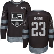 Wholesale Cheap Adidas Kings #23 Dustin Brown Black 1917-2017 100th Anniversary Stitched NHL Jersey