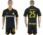 Wholesale Cheap Dortmund #25 Sokratis Away Soccer Club Jersey