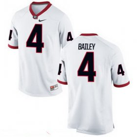 Wholesale Cheap Men\'s Georgia Bulldogs #4 Champ Bailey White Stitched College Football 2016 Nike NCAA Jersey
