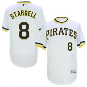 Wholesale Pirates #8 Willie Stargell White Flexbase Authentic Collection Cooperstown Stitched Baseball Jersey