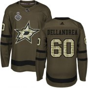 Cheap Adidas Stars #60 Ty Dellandrea Green Salute to Service Youth 2020 Stanley Cup Final Stitched NHL Jersey