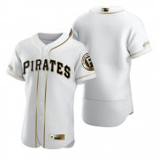 Wholesale Cheap Pittsburgh Pirates Blank White Nike Men's Authentic Golden Edition MLB Jersey