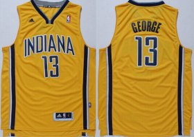 Wholesale Cheap Indiana Pacers #13 Paul George Revolution 30 Swingman Yellow Jersey
