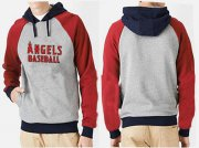 Wholesale Cheap Los Angeles Angels Pullover Hoodie Grey & Red