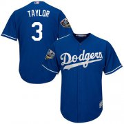 Wholesale Cheap Dodgers #3 Chris Taylor Blue Cool Base 2018 World Series Stitched Youth MLB Jersey