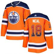 Wholesale Cheap Adidas Oilers #18 James Neal Orange Home Authentic Drift Fashion Stitched NHL Jersey