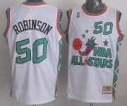 Wholesale Cheap NBA 1996 All-Star #50 David Robinson White Swingman Throwback Jersey
