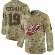 Wholesale Cheap Adidas Red Wings #19 Steve Yzerman Camo Authentic Stitched NHL Jersey