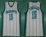 Wholesale Cheap Men's Charlotte Hornets #15 Percy Miller White Hardwood Classics Soul Swingman Throwback Jersey