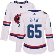 Wholesale Cheap Adidas Canadiens #65 Andrew Shaw White Authentic 2017 100 Classic Women's Stitched NHL Jersey