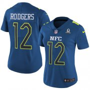 Wholesale Cheap Nike Packers #12 Aaron Rodgers Navy Women's Stitched NFL Limited NFC 2017 Pro Bowl Jersey