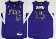 Wholesale Cheap Sacramento Kings #15 DeMarcus Cousins Revolution 30 Swingman Purple Jersey