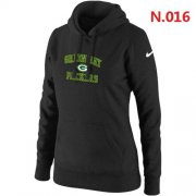 Wholesale Women's Nike Green Bay Packers Heart & Soul Pullover Hoodie Black