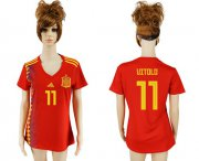 Wholesale Cheap Women's Spain #11 Vitolo Red Home Soccer Country Jersey