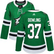 Cheap Adidas Stars #37 Justin Dowling Green Home Authentic Women's Stitched NHL Jersey
