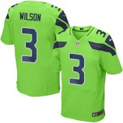 Wholesale Cheap Nike Seahawks #3 Russell Wilson Green Men's Stitched NFL Elite Rush Jersey