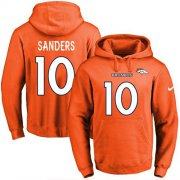 Wholesale Cheap Nike Broncos #10 Emmanuel Sanders Orange Name & Number Pullover NFL Hoodie