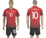 Wholesale Cheap Turkey #10 Turan Home Soccer Country Jersey