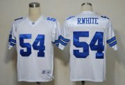 Wholesale Cheap Cowboys #54 R.White White Legend Throwback Stitched NFL Jersey