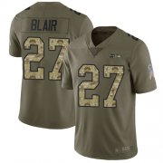 Wholesale Cheap Nike Seahawks #27 Marquise Blair Olive/Camo Men's Stitched NFL Limited 2017 Salute To Service Jersey