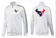 Wholesale Cheap NFL Houston Texans Team Logo Jacket White_3