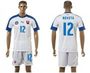 Wholesale Cheap Slovakia #12 Novota Home Soccer Country Jersey