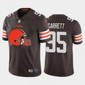 Wholesale Cheap Nike Browns #13 Odell Beckham Jr Brown Team Color Men\'s Stitched NFL 100th Season Vapor Limited Jersey