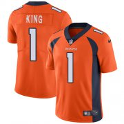 Wholesale Cheap Nike Broncos #1 Marquette King Orange Team Color Men's Stitched NFL Vapor Untouchable Limited Jersey