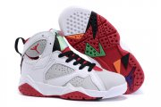 Wholesale Cheap Kids' Air Jordan 7 Retro Shoes White/gray-red-black