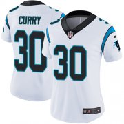 Wholesale Cheap Nike Panthers #30 Stephen Curry White Women's Stitched NFL Vapor Untouchable Limited Jersey