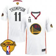 Wholesale Cheap Men's Warriors #11 Klay Thompson White 2017 Chinese New Year The Finals Patch Stitched NBA Jersey