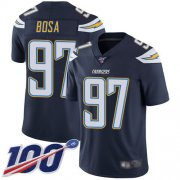 Wholesale Cheap Nike Chargers #97 Joey Bosa Navy Blue Team Color Men's Stitched NFL 100th Season Vapor Limited Jersey