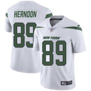 Wholesale Cheap Nike Jets #89 Chris Herndon White Youth Stitched NFL Vapor Untouchable Limited Jersey