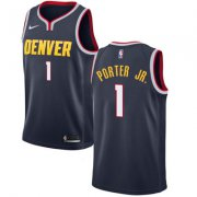 Wholesale Cheap Nike Denver Nuggets #1 Michael Porter Jr. Navy NBA Swingman Icon Edition Jersey
