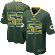 Wholesale Cheap Nike Packers #52 Clay Matthews Green Team Color Men's Stitched NFL Limited Strobe Jersey