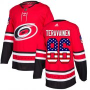 Wholesale Cheap Adidas Hurricanes #86 Teuvo Teravainen Red Home Authentic USA Flag Stitched Youth NHL Jersey