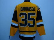 Wholesale Cheap Penguins #35 Tom Barrasso Stitched Mitchell&Ness Yellow NHL Jersey
