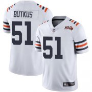 Wholesale Cheap Nike Bears #51 Dick Butkus White Alternate Men's Stitched NFL Vapor Untouchable Limited 100th Season Jersey