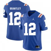 Wholesale Cheap Florida Gators 12 John Brantley Blue Throwback College Football Jersey