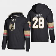 Wholesale Cheap Vegas Golden Knights #28 William Carrier Black adidas Lace-Up Pullover Hoodie