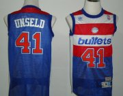 Wholesale Cheap Washington Bullets #41 Wes Unseld Blue Swingman Throwback Jersey