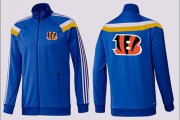 Wholesale Cheap NFL Cincinnati Bengals Team Logo Jacket Blue_2
