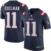 Wholesale Cheap Nike Patriots #11 Julian Edelman Navy Blue Youth Stitched NFL Limited Rush Jersey
