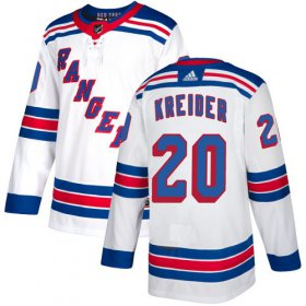Wholesale Cheap Adidas Rangers #20 Chris Kreider White Road Authentic Stitched Youth NHL Jersey