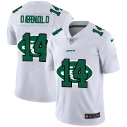 Wholesale Cheap New York Jets #14 Sam Darnold White Men's Nike Team Logo Dual Overlap Limited NFL Jersey