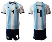 Wholesale Cheap Argentina #4 Pezzella Home Soccer Country Jersey