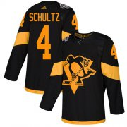 Wholesale Cheap Adidas Penguins #4 Justin Schultz Black Authentic 2019 Stadium Series Stitched NHL Jersey