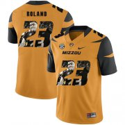 Wholesale Cheap Missouri Tigers 23 Johnny Roland Gold Nike Fashion College Football Jersey