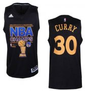 Wholesale Cheap Men's Golden State Warriors #30 Stephen Curry Revolution 30 Swingman 2015 Champions Fashion Black Jersey