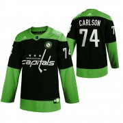 Wholesale Cheap Washington Capitals #74 John Carlson Men's Adidas Green Hockey Fight nCoV Limited NHL Jersey